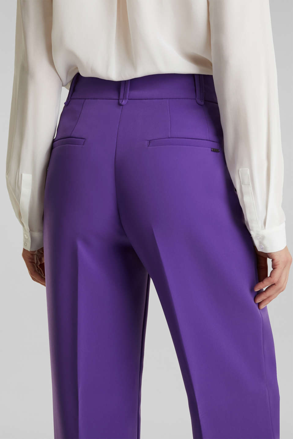 TECHNO TWILL mix + match wide stretch trousers, PURPLE, detail image number 5