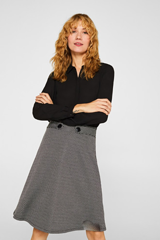 A-line skirt made of patterned jersey