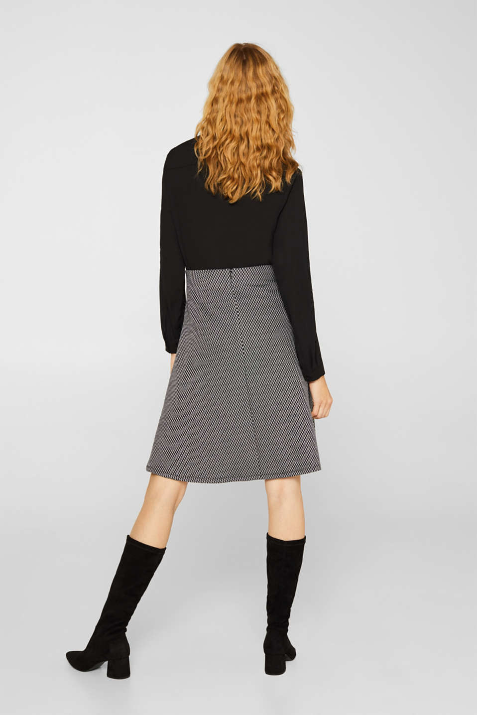 A-line skirt made of patterned jersey, GREY, detail image number 3
