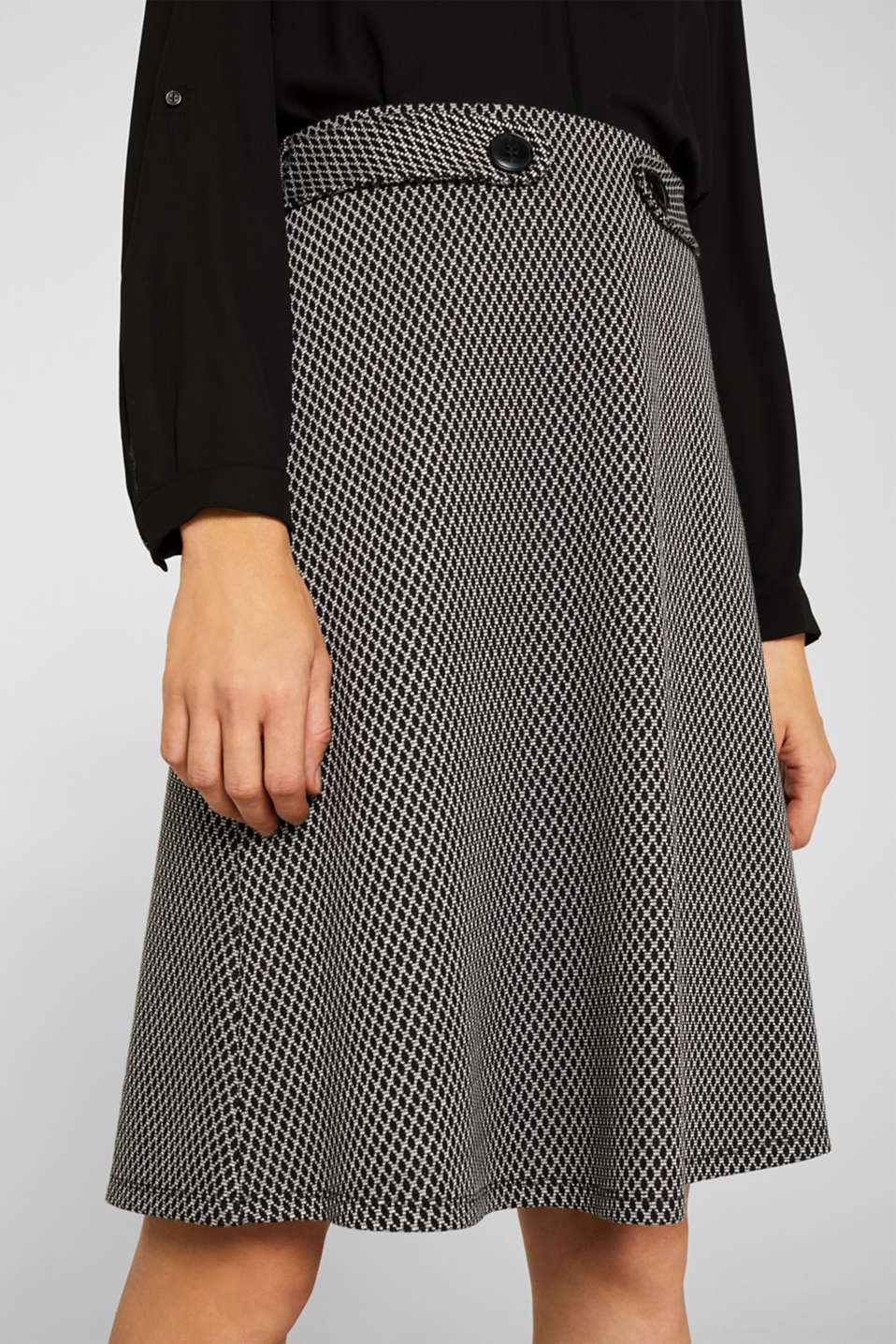 A-line skirt made of patterned jersey, GREY, detail image number 2