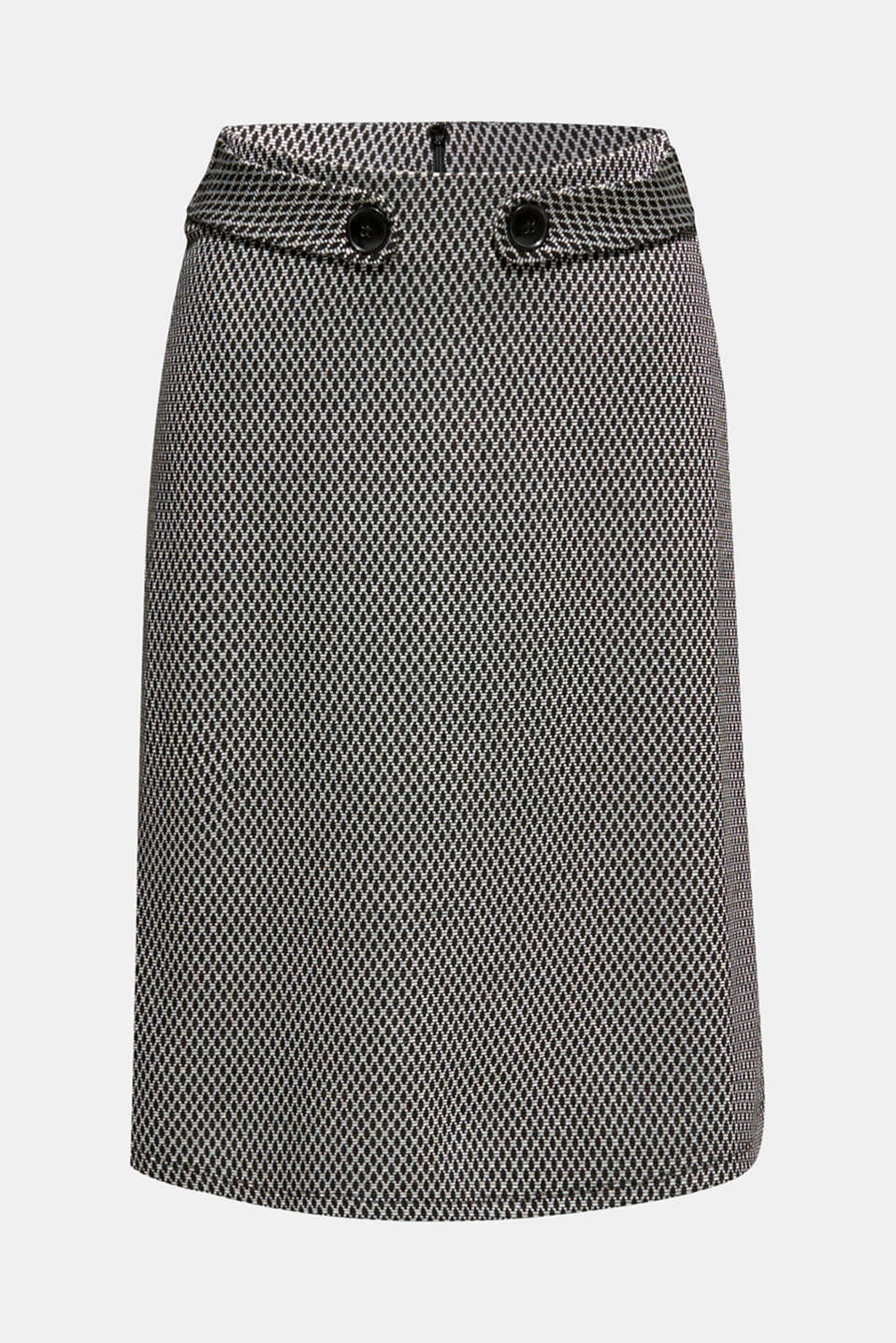 A-line skirt made of patterned jersey, GREY, detail image number 7