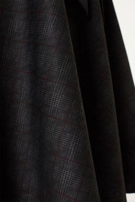 Flared Prince of Wales check midi skirt, BLACK, detail