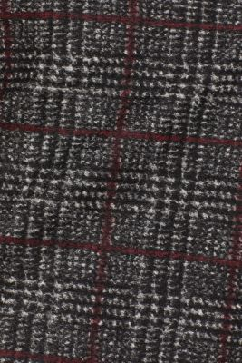 With wool: checked skirt, BLACK, detail