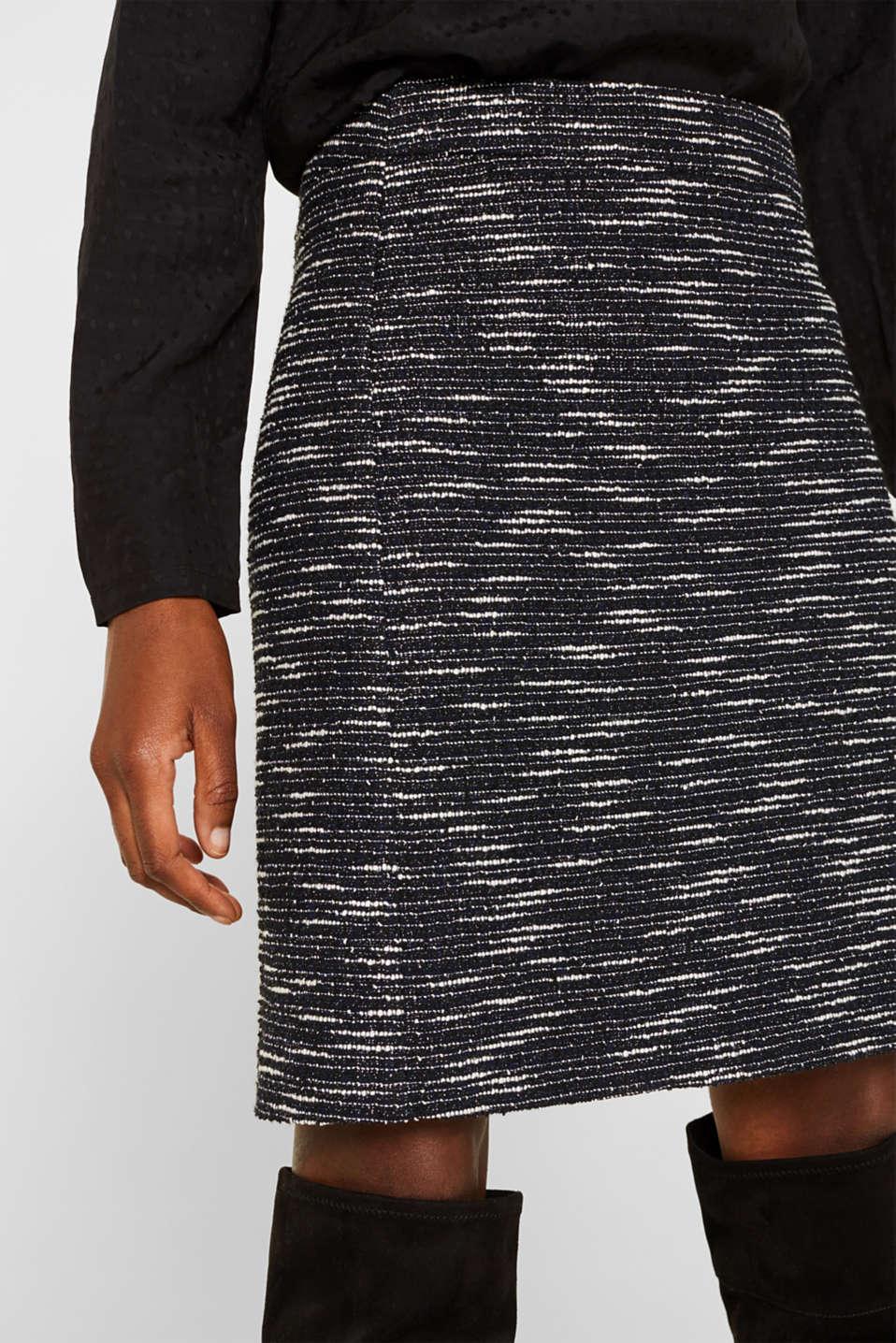 Bi-colour glittering bouclé skirt, BLACK, detail image number 2