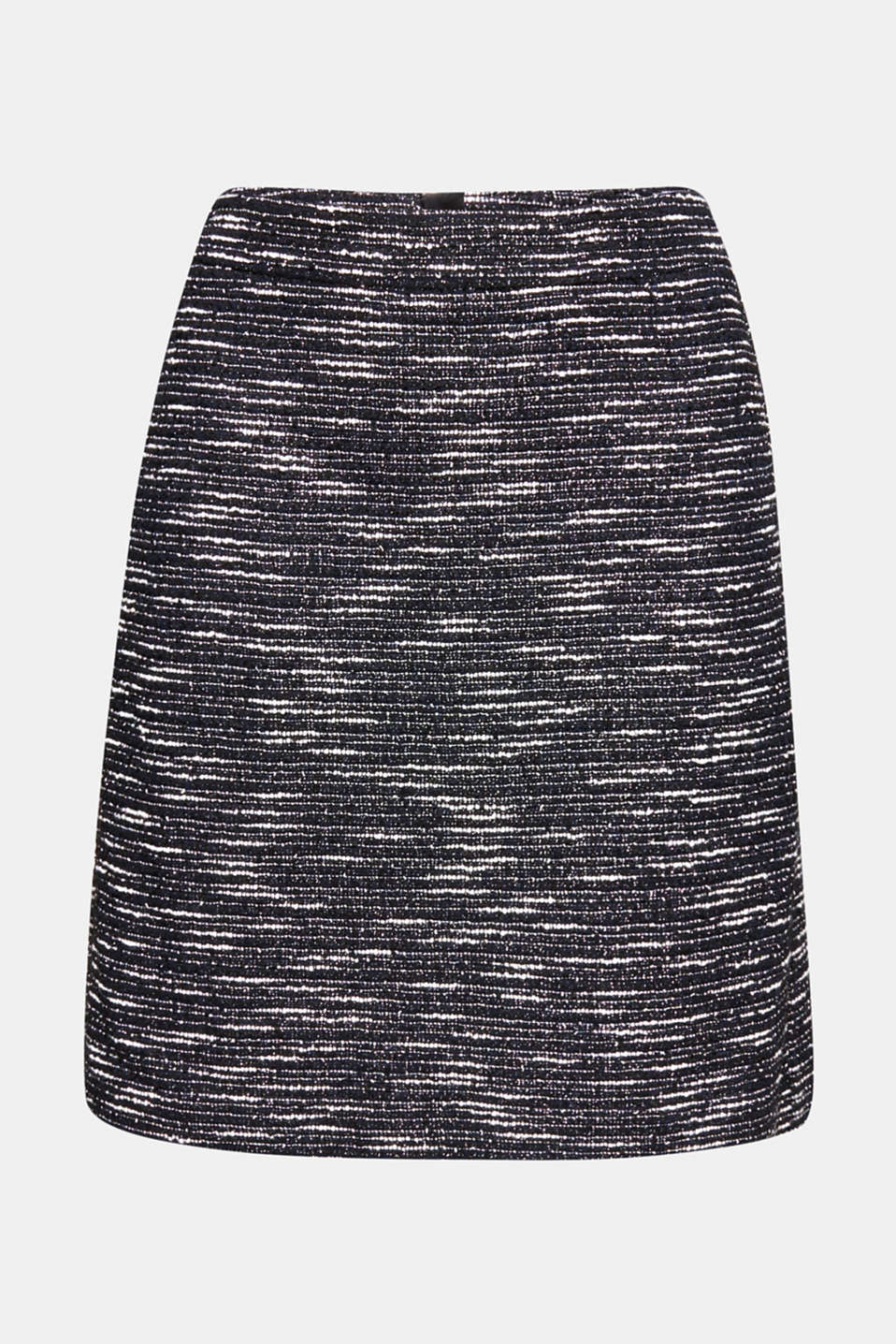 Bi-colour glittering bouclé skirt, BLACK, detail image number 7