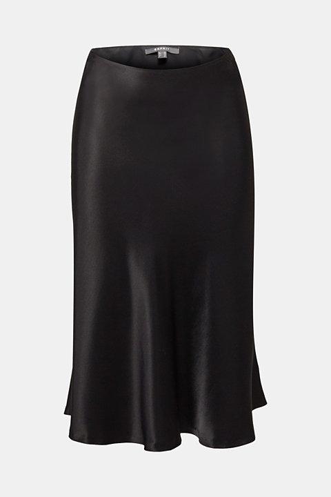 Flared midi skirt in satin