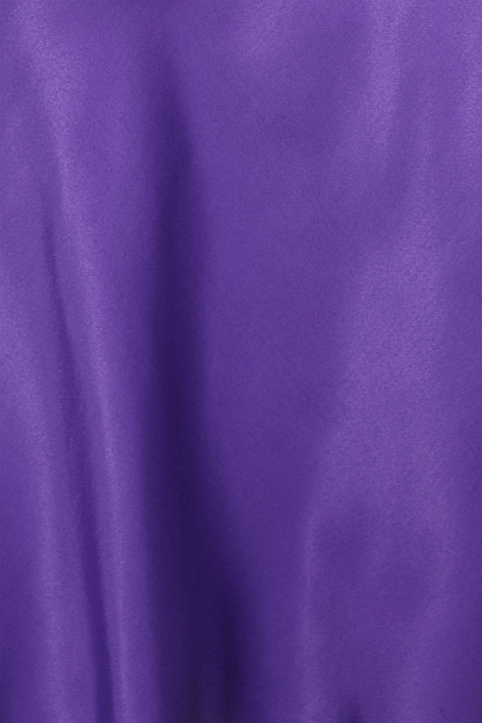 Flared midi skirt in satin, PURPLE, detail image number 4