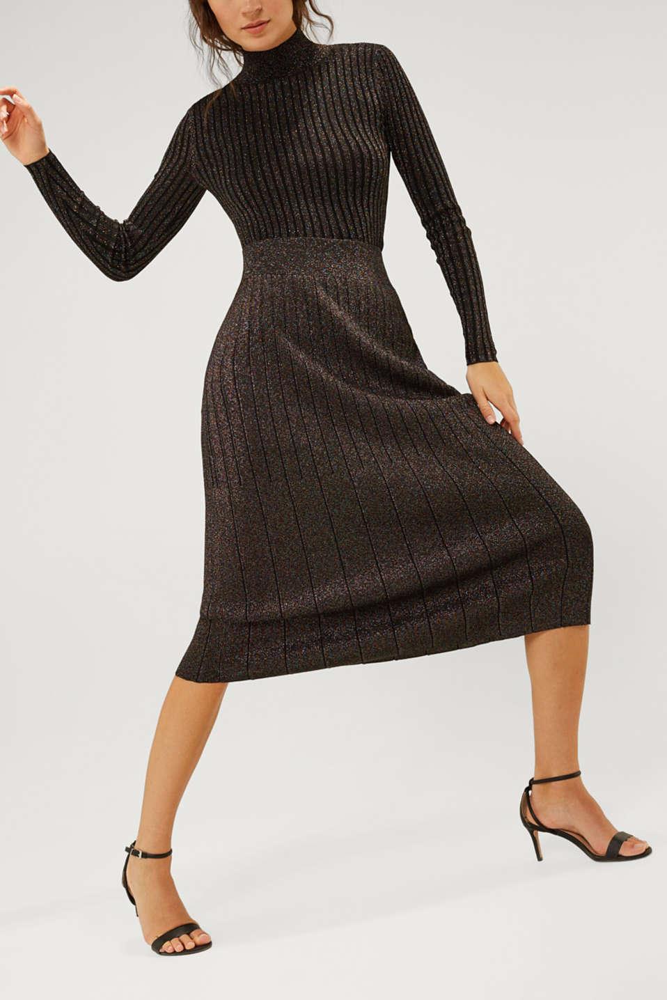 Colourful glittering knit skirt