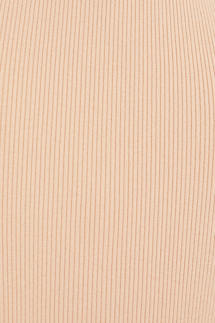 Knit skirt with ribbed texture, LIGHT BEIGE, detail image number 2