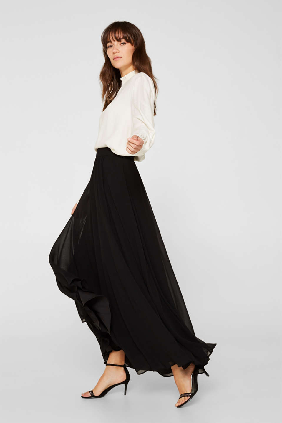 Esprit - Gonna maxi in chiffon