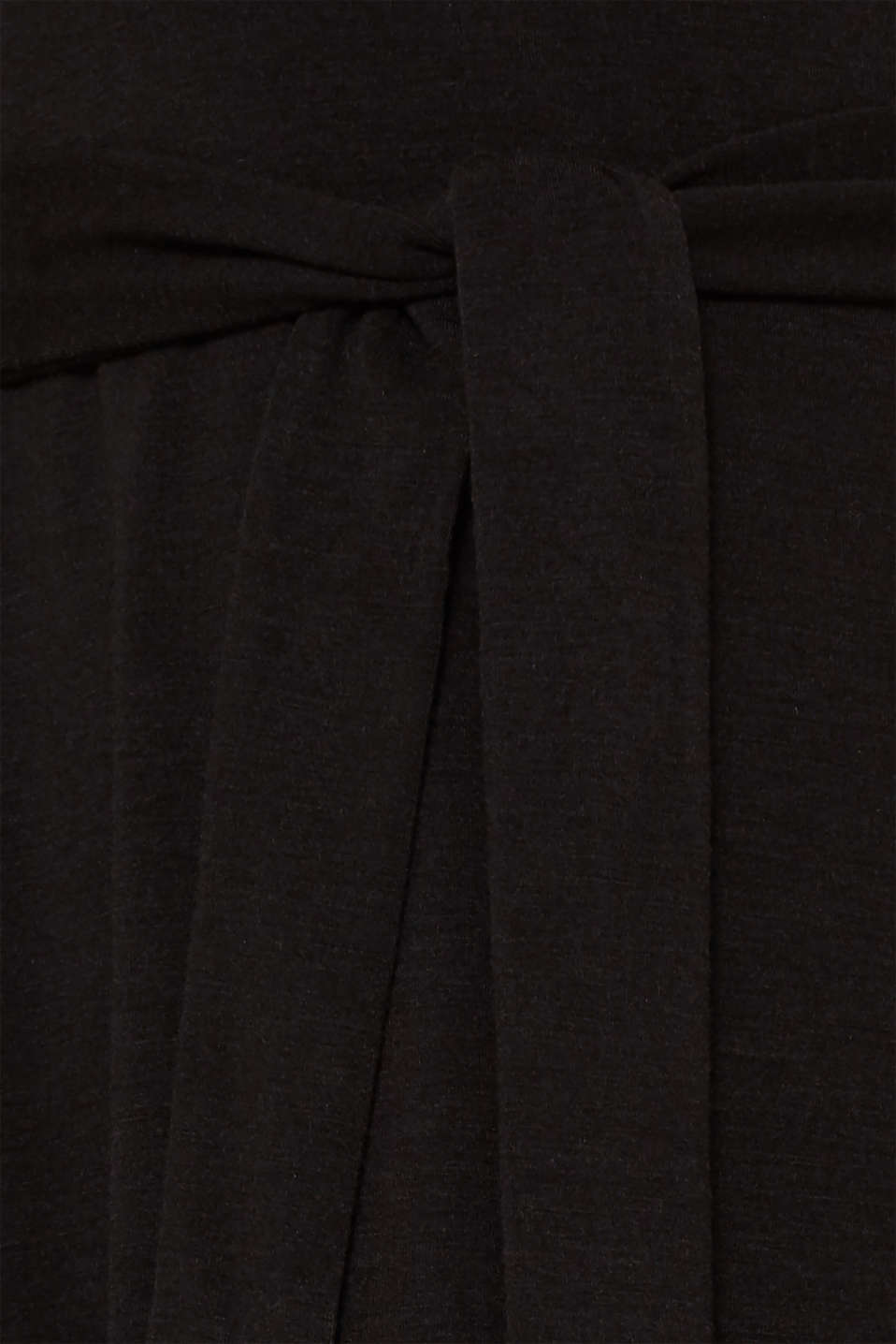 Stretch jersey dress with a draped collar, BLACK, detail image number 4