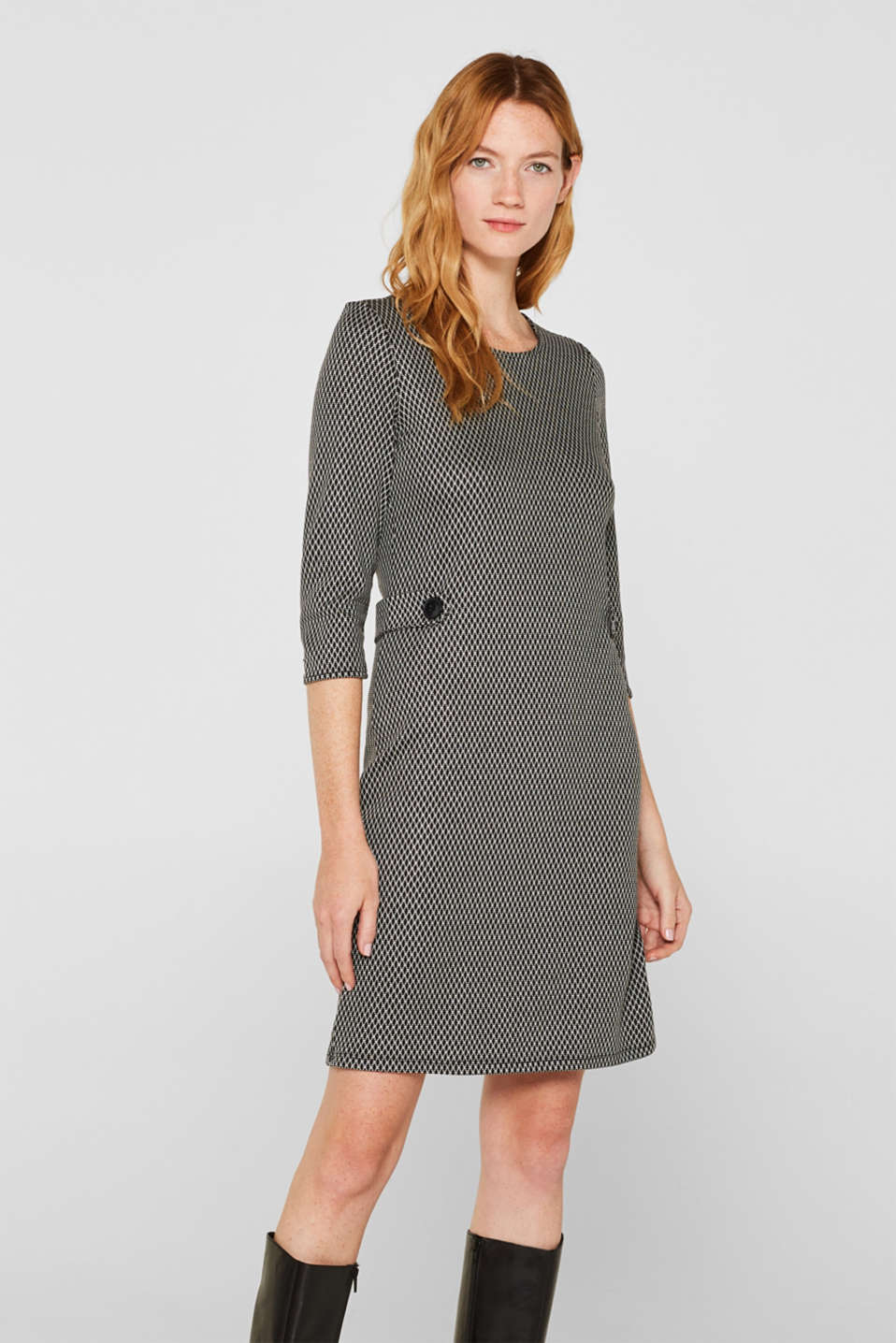 Esprit - Patterned jersey shift dress