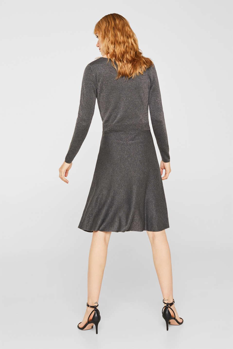 Glitter knit dress with LENZING™ ECOVERO, GUNMETAL 5, detail image number 2