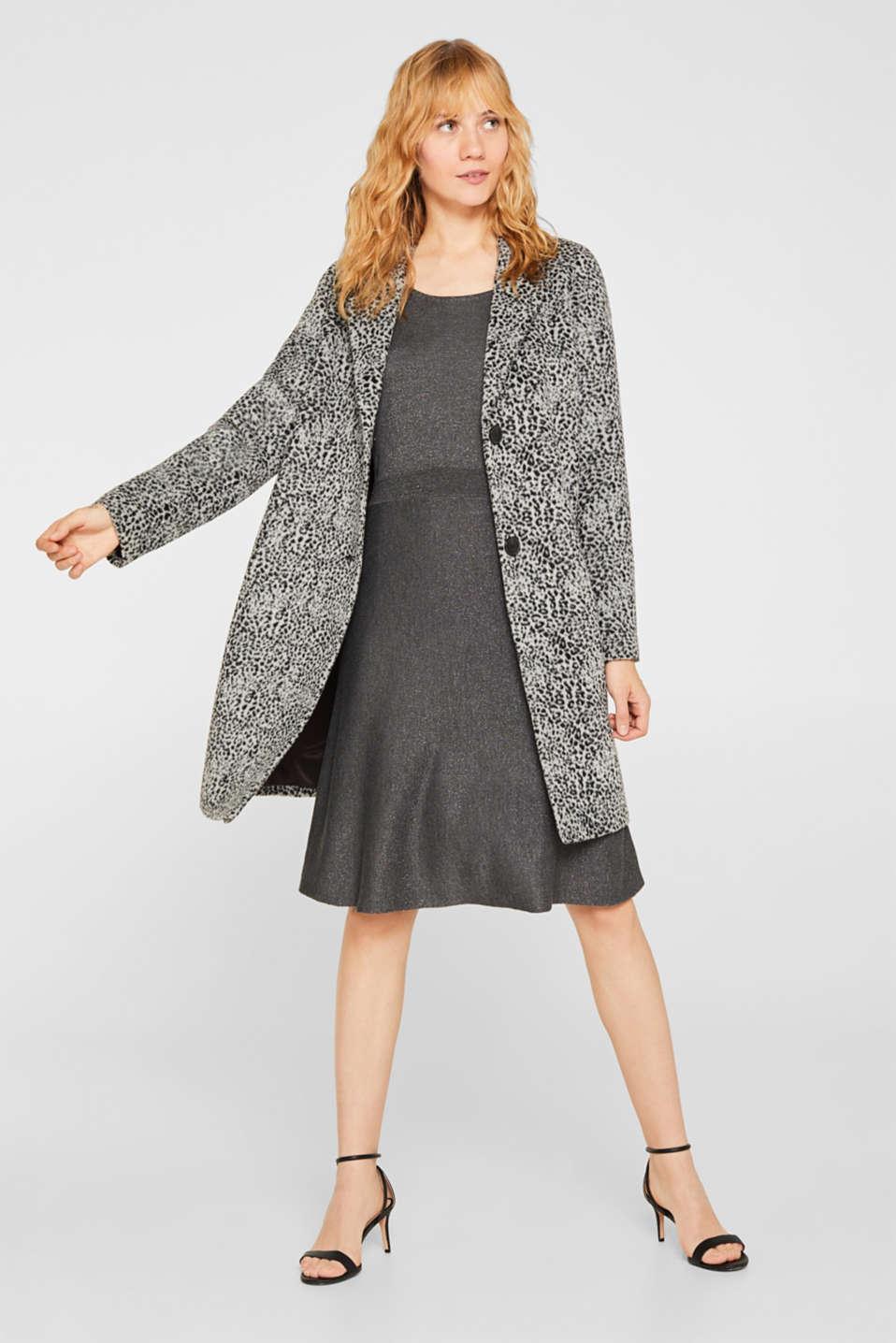Glitter knit dress with LENZING™ ECOVERO, GUNMETAL 5, detail image number 1