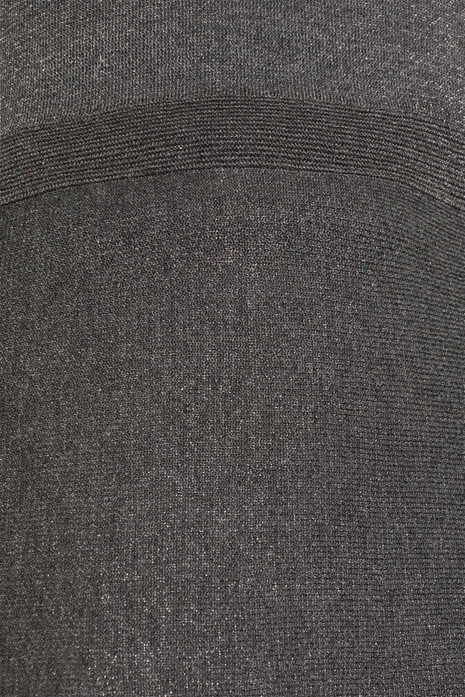 Glitter knit dress with LENZING™ ECOVERO, GUNMETAL 5, detail image number 4