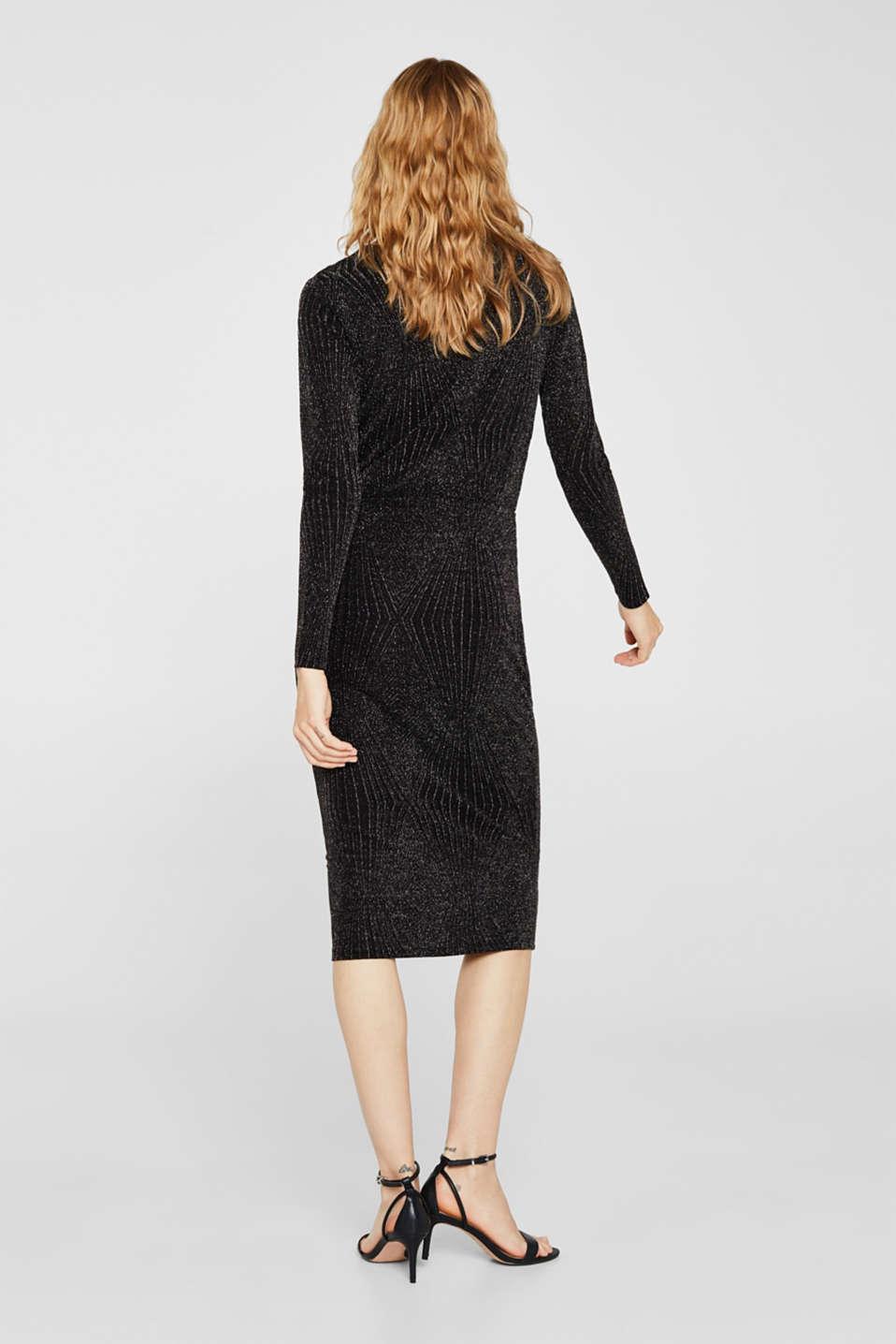 Glittering jersey dress, BLACK, detail image number 2