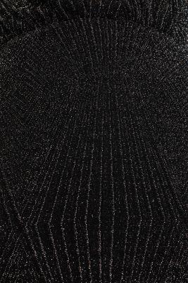 Glittering jersey dress, BLACK, detail