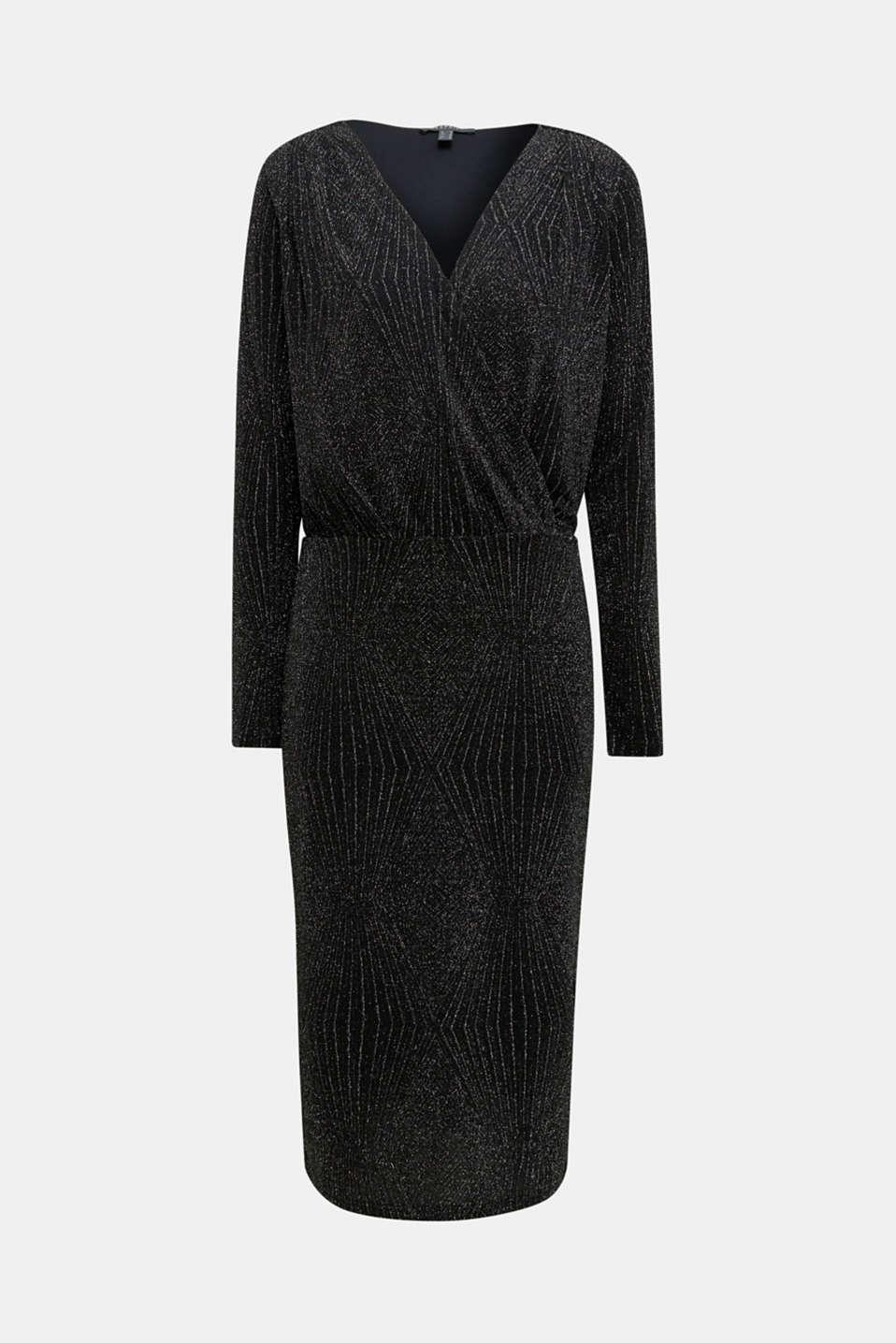 Glittering jersey dress, BLACK, detail image number 6