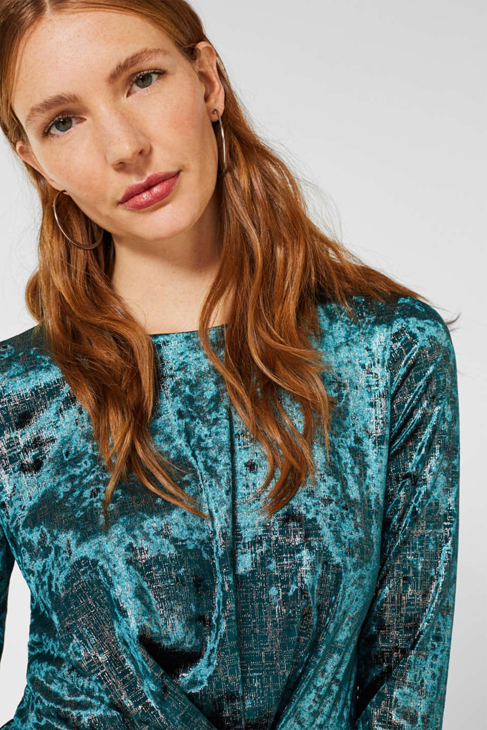 Dresses knitted, DARK TEAL GREEN, detail image number 5