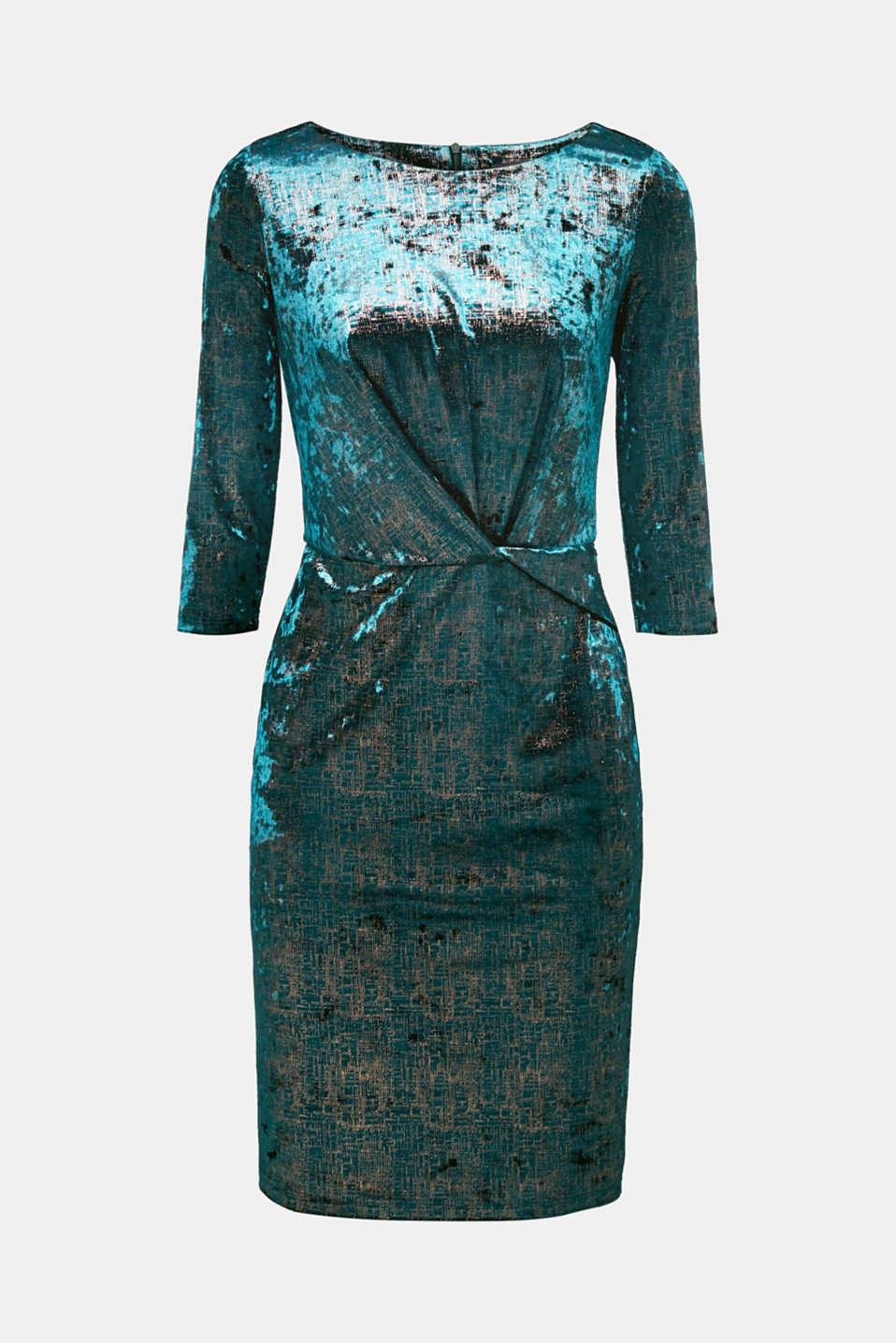 Dresses knitted, DARK TEAL GREEN, detail image number 6