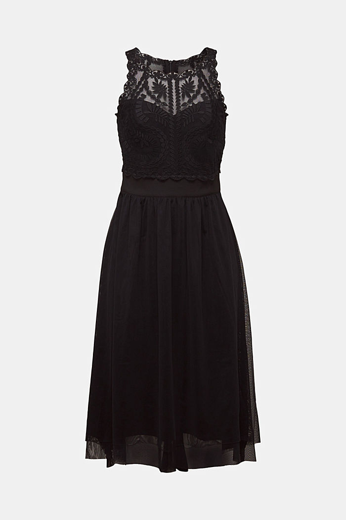 Midi dress made of tulle and lace