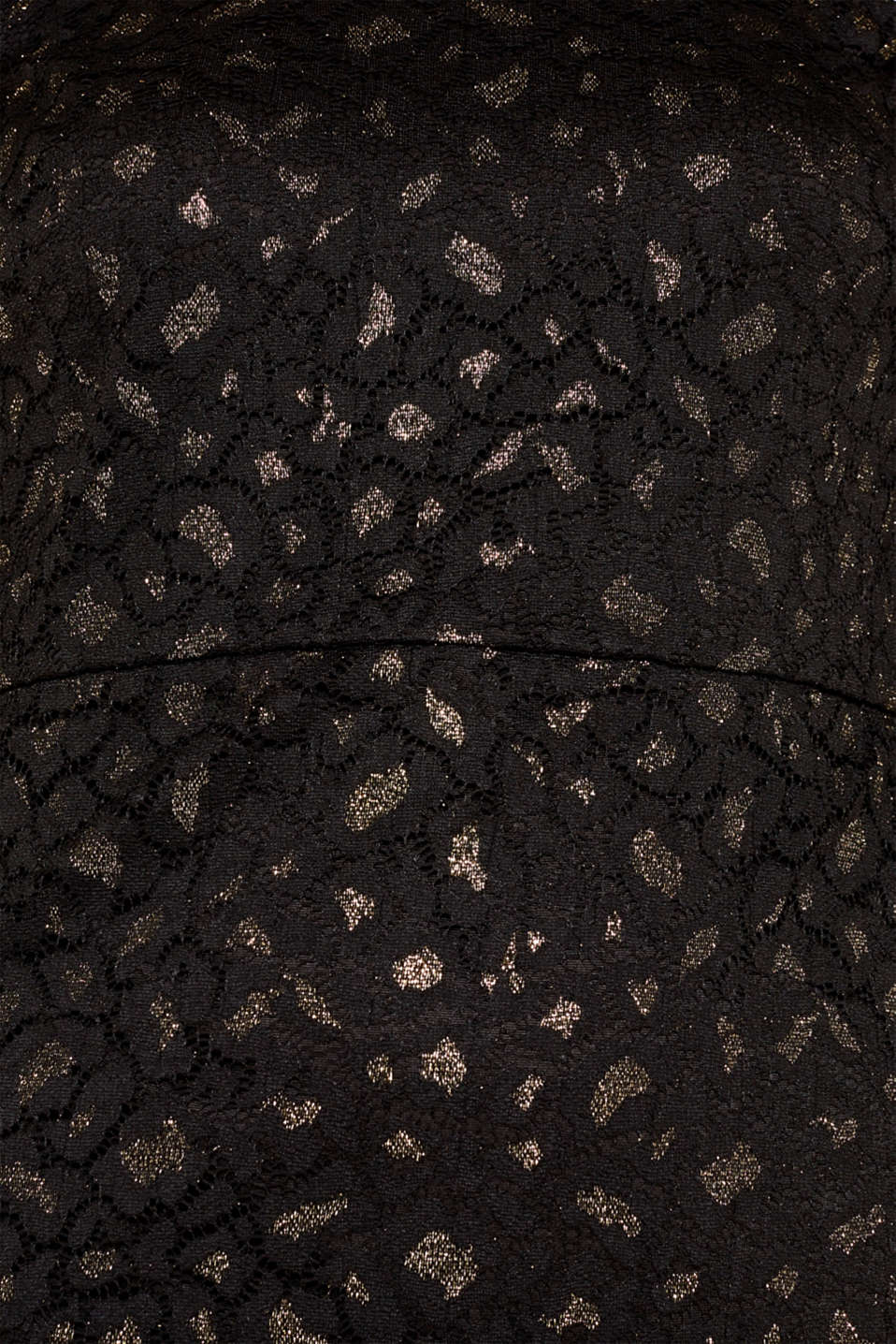 Lace dress in a glittering leopard look, BLACK, detail image number 4