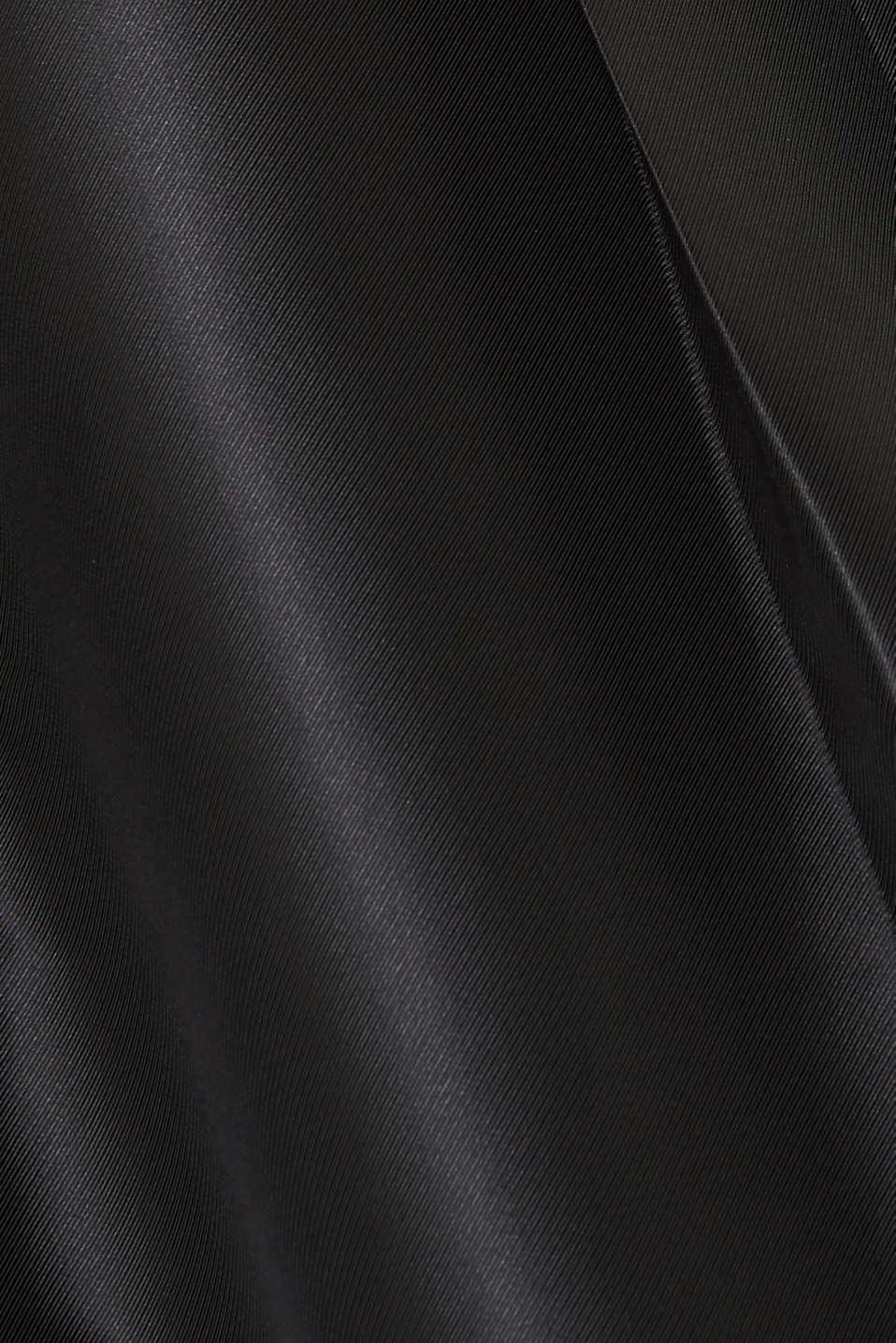 Dress made of velvet and satin, BLACK, detail image number 4