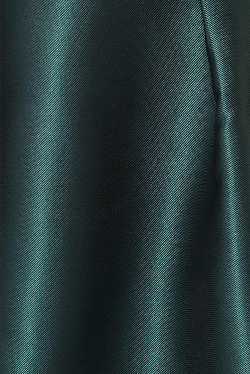 Dress made of velvet and satin, DARK TEAL GREEN, detail image number 4