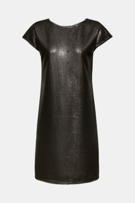 Dress with sequins, BLACK, detail