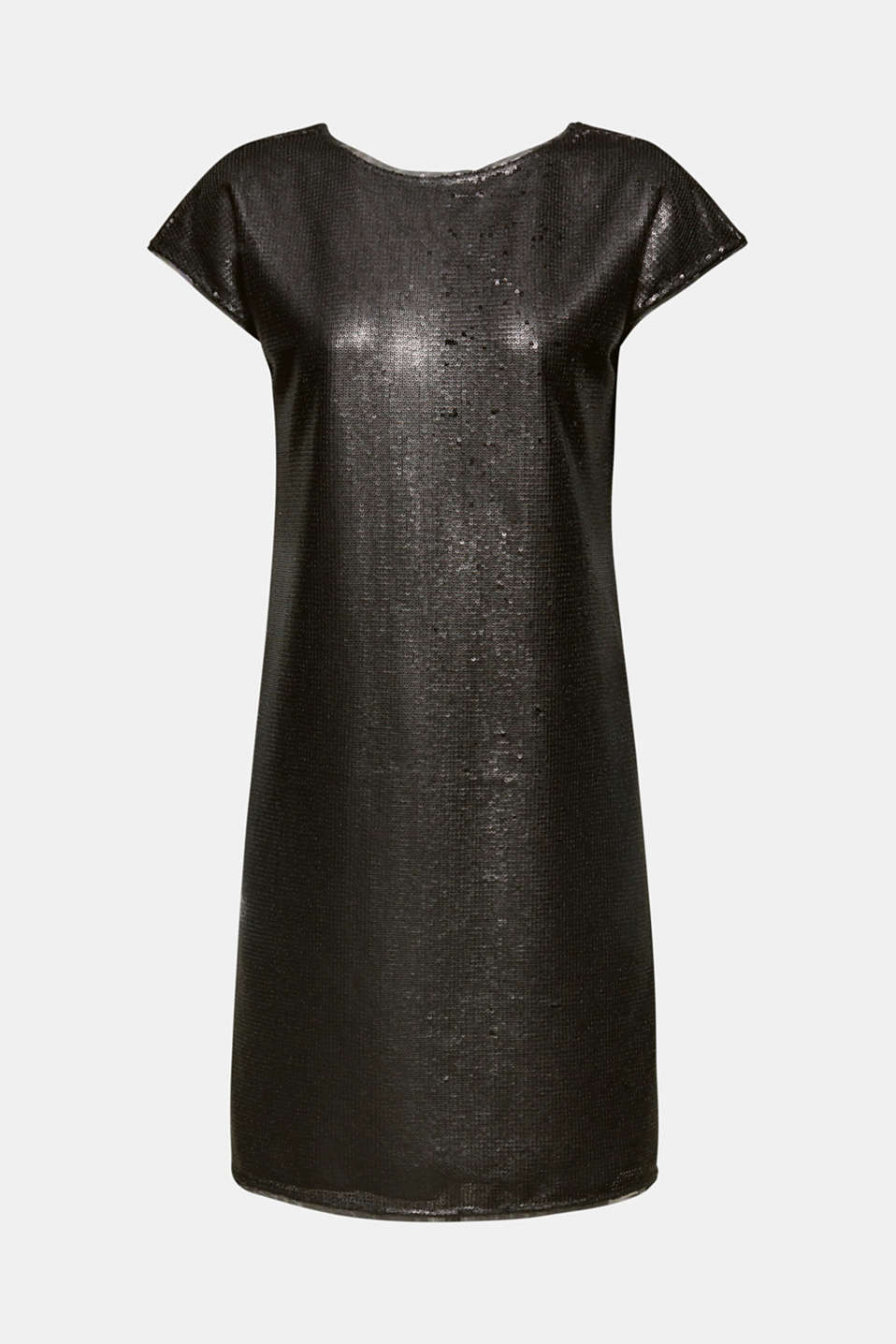 Dress with sequins, BLACK, detail image number 6