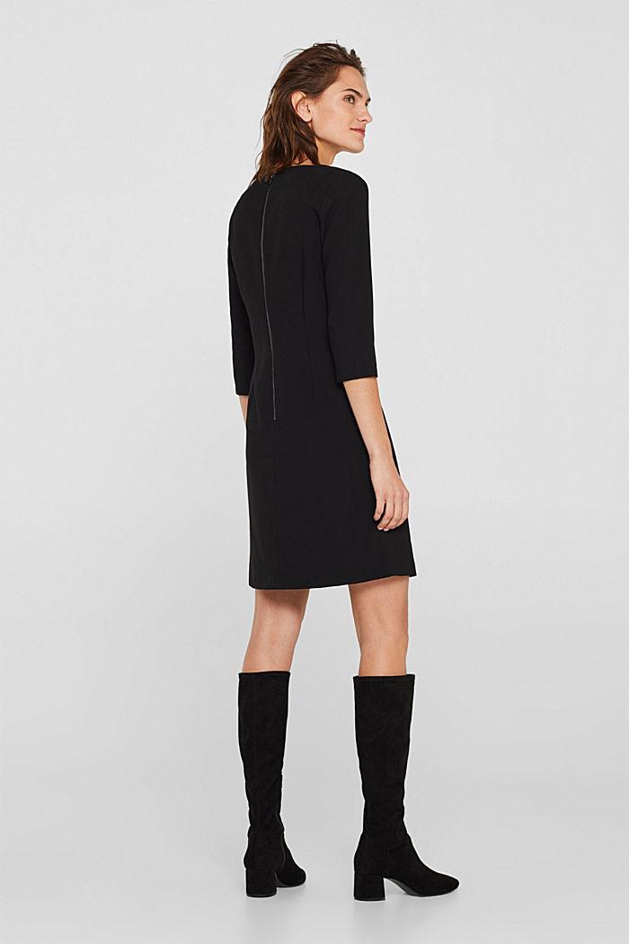 V-neck shift dress, BLACK, detail image number 3