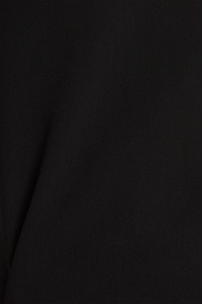 V-neck shift dress, BLACK, detail image number 4