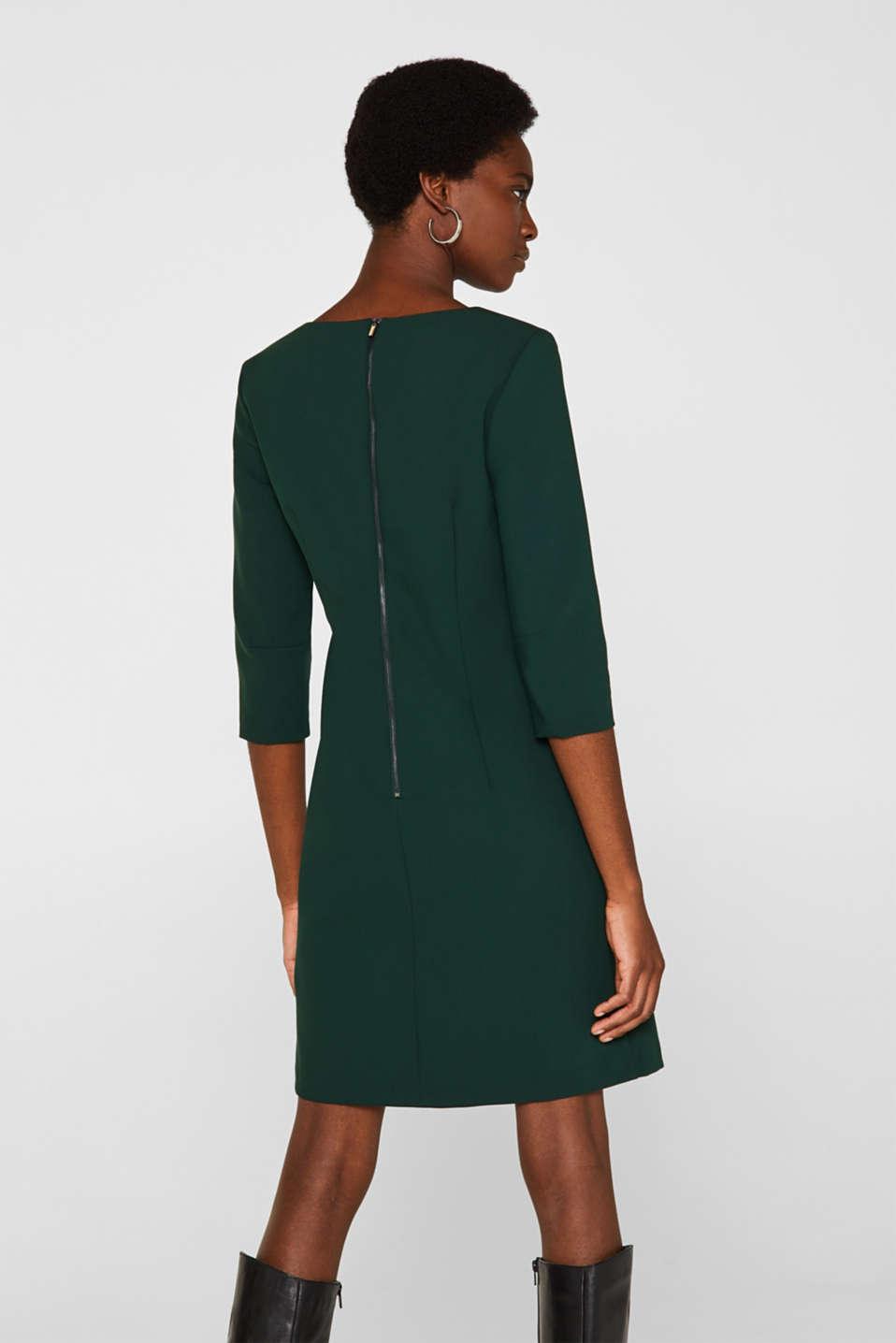 V-neck shift dress, DARK TEAL GREEN, detail image number 3