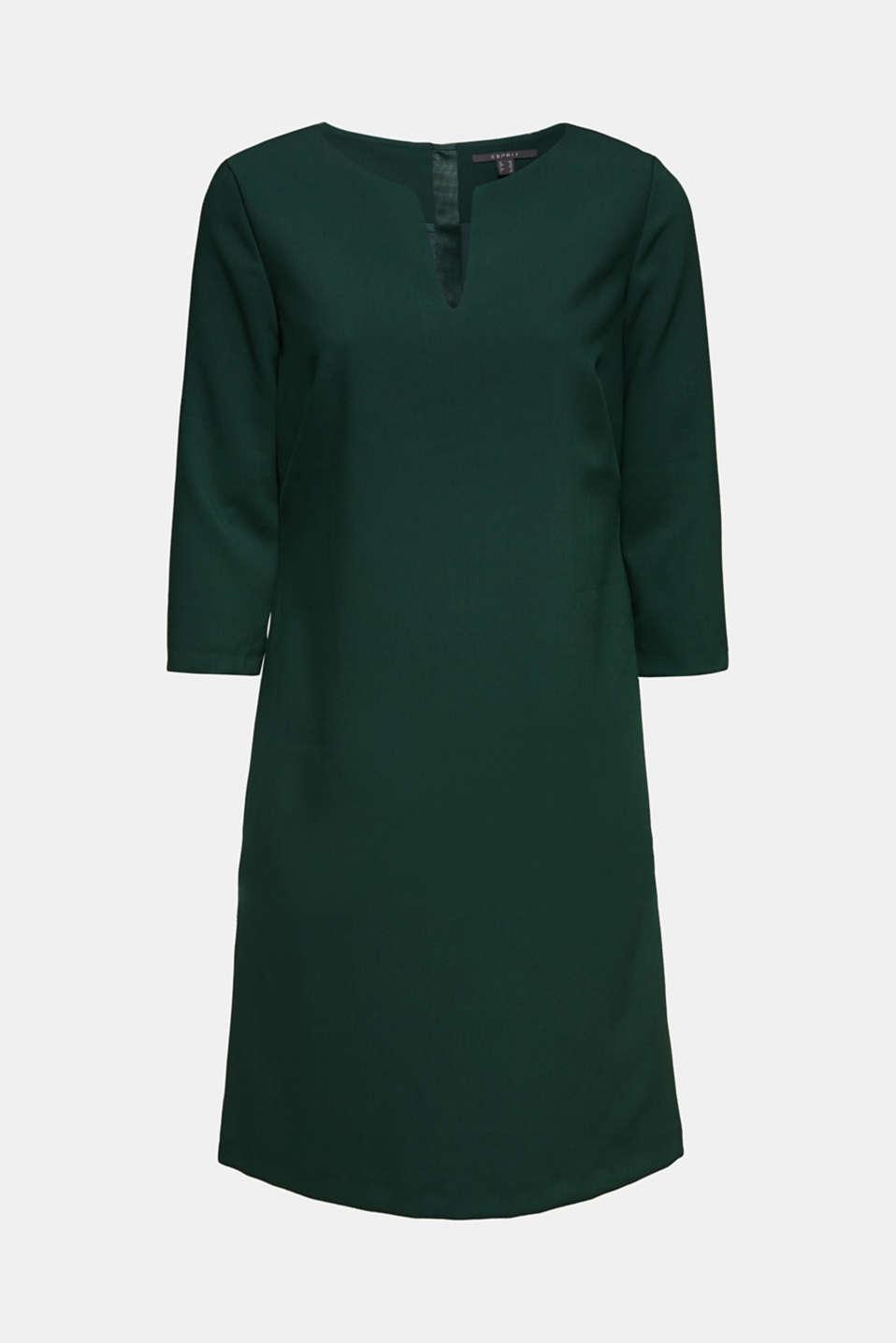 V-neck shift dress, DARK TEAL GREEN, detail image number 5