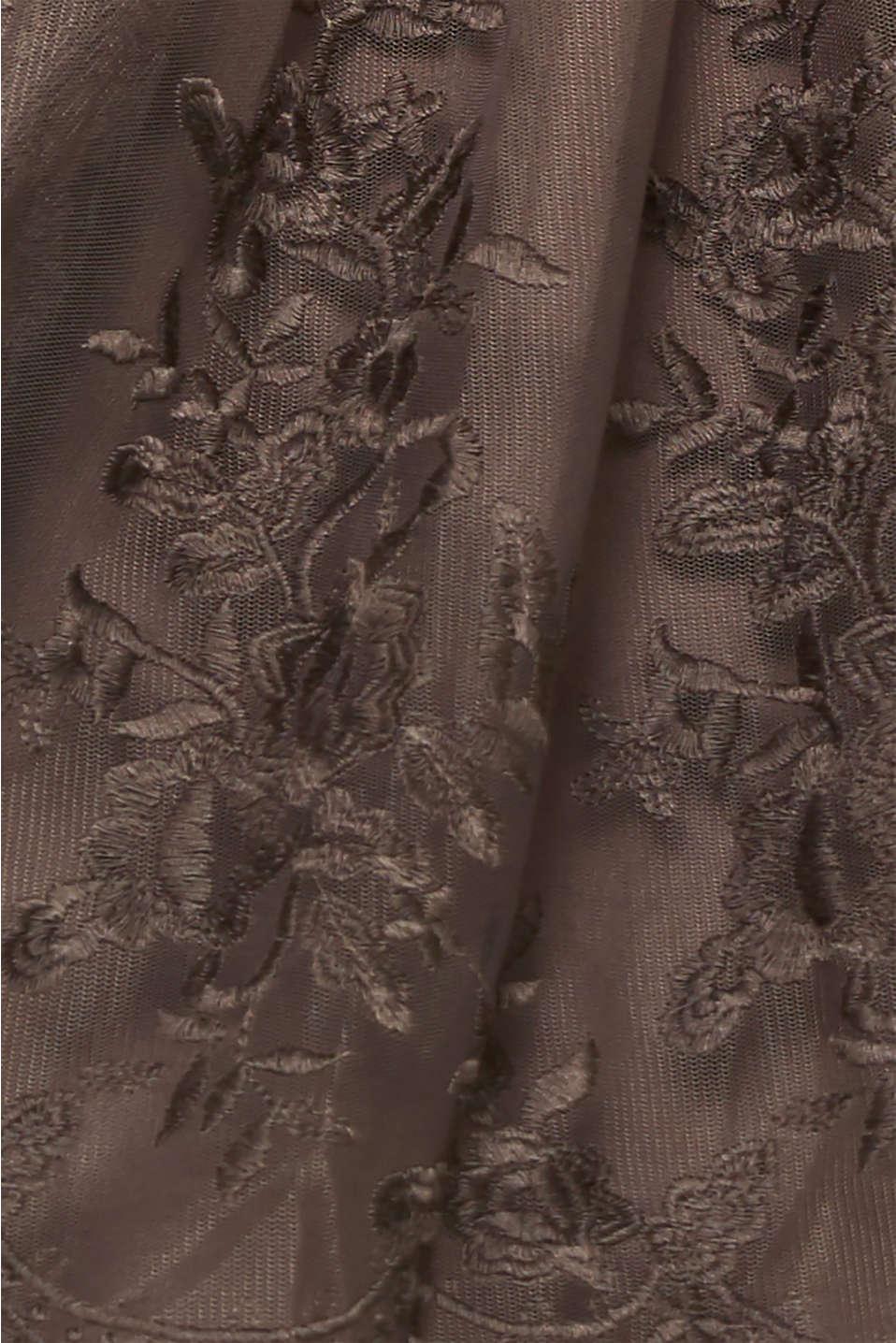 Embroidered tulle dress, LIGHT BEIGE, detail image number 4