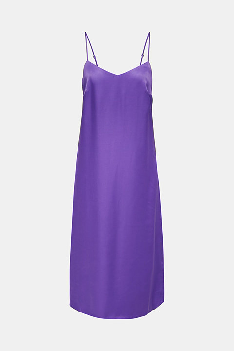 Satin dress in a midi length