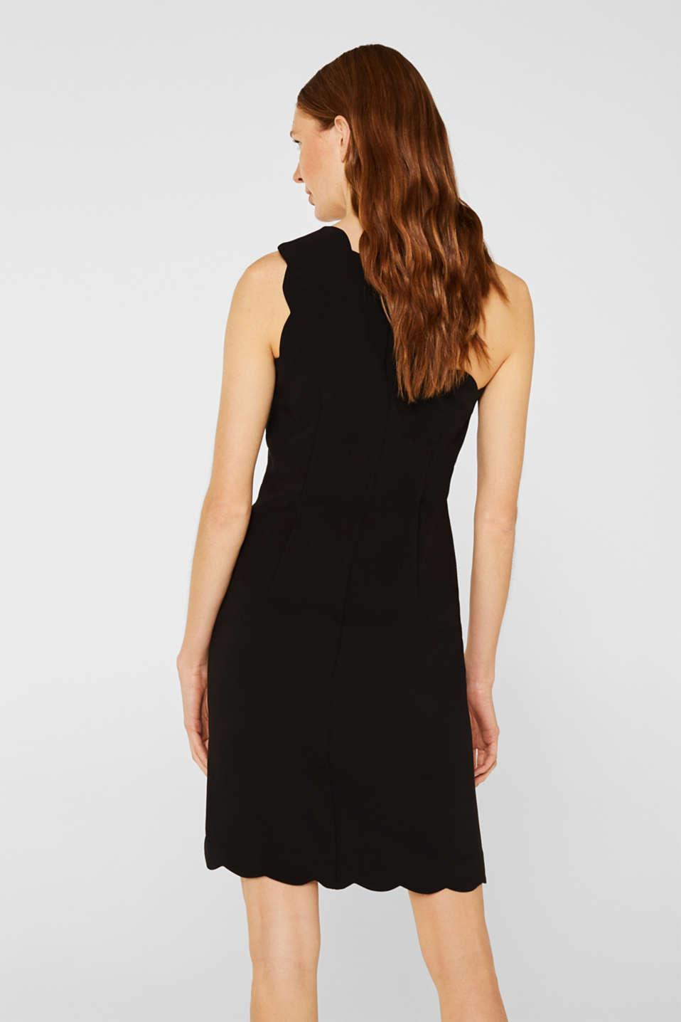 One-shoulder stretch dress, BLACK, detail image number 3