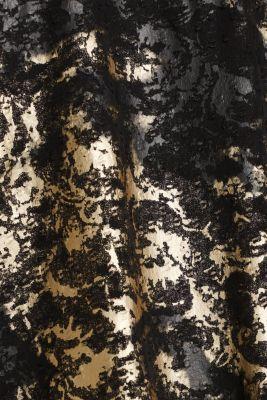 Plumetti top with a metallic print, BLACK, detail