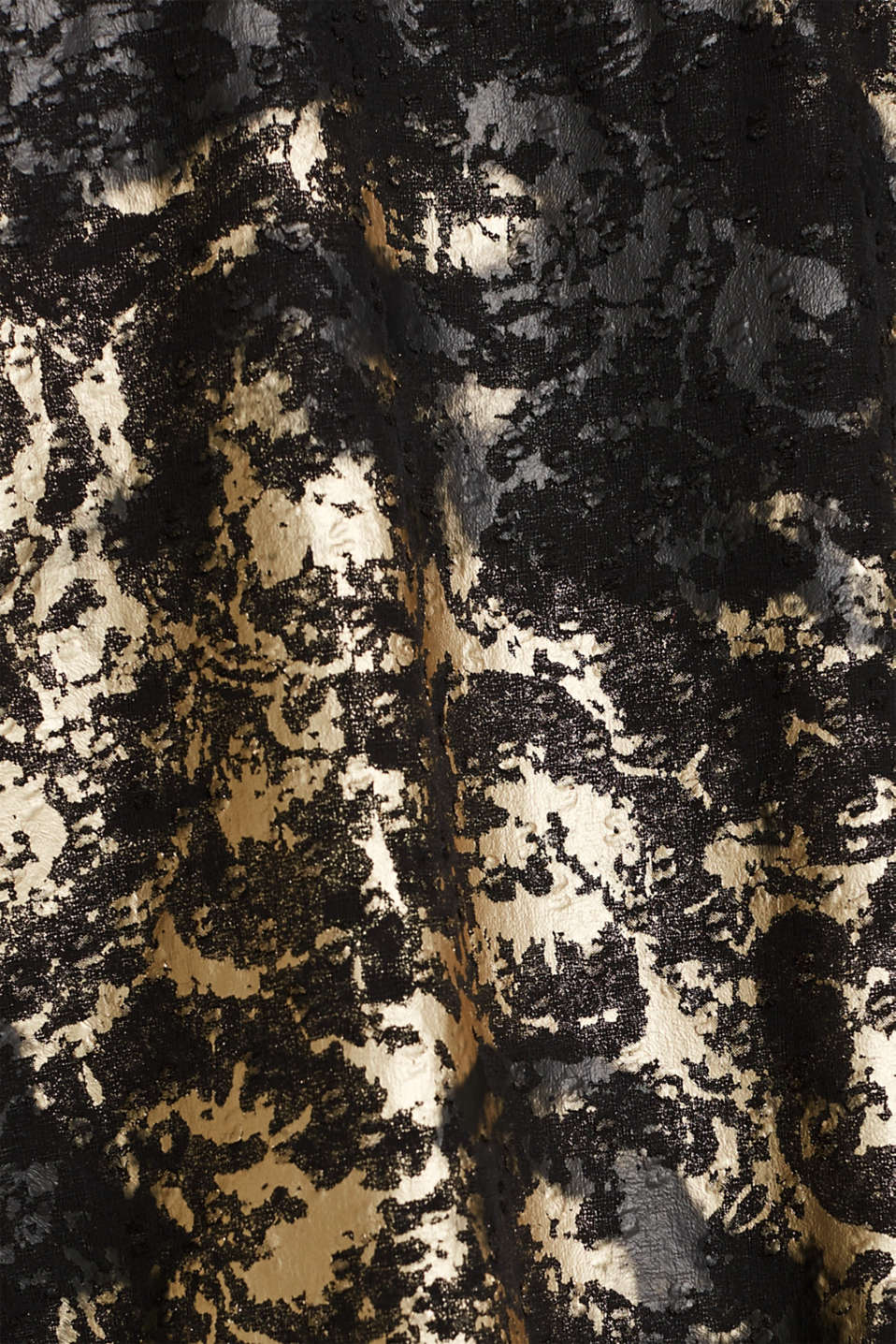 Plumetti top with a metallic print, BLACK, detail image number 4