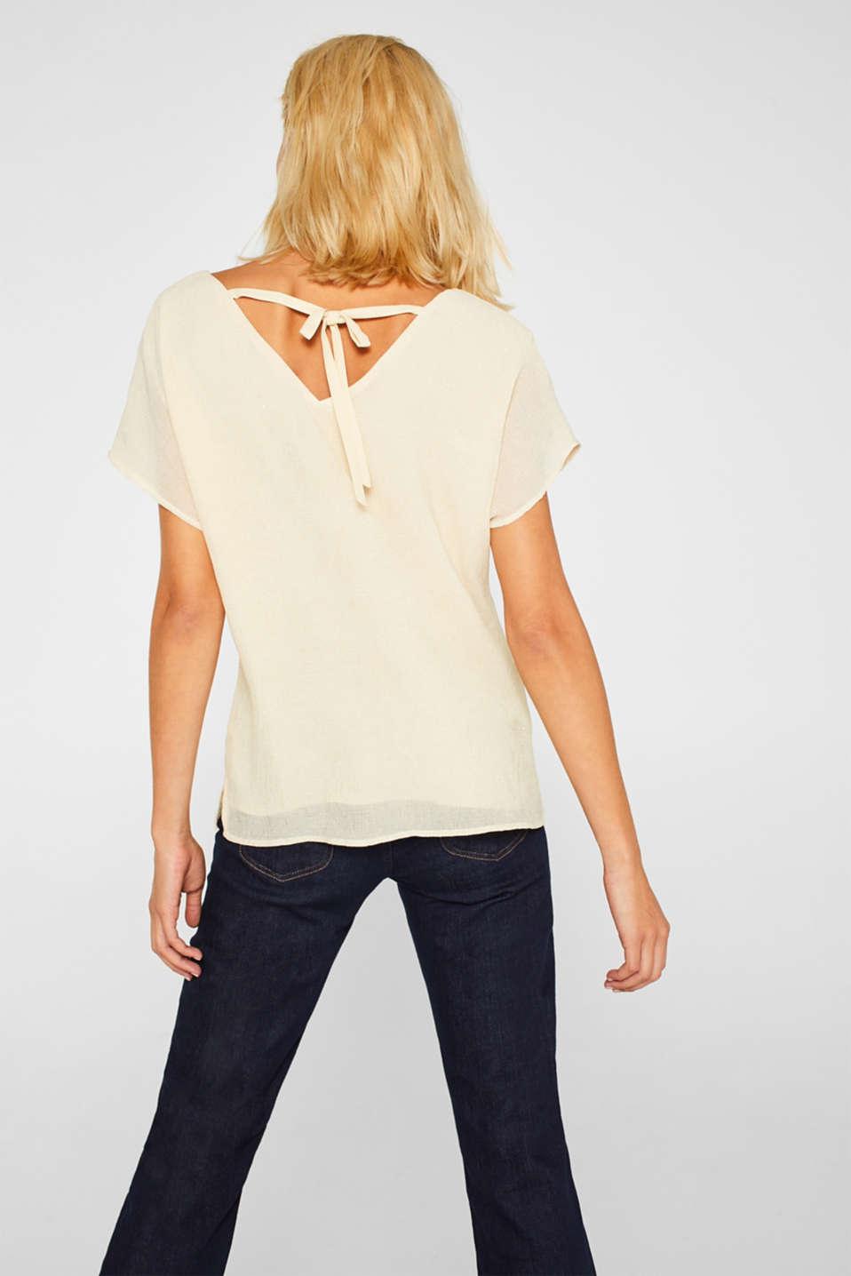 Glittering crinkle blouse top, SAND, detail image number 3