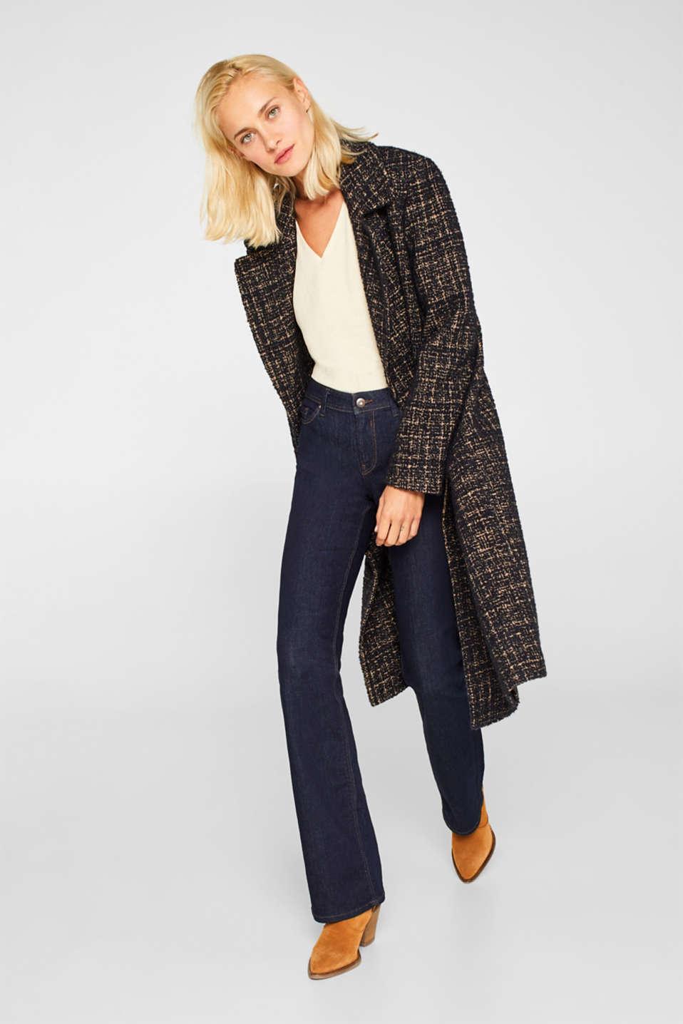 Glittering crinkle blouse top, SAND, detail image number 1