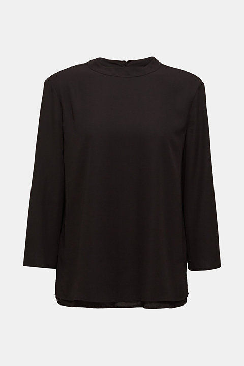 Chiffon blouse with a layered detail