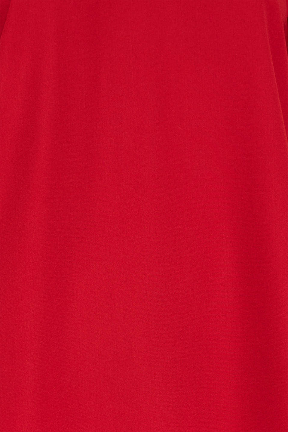 Chiffon blouse with a layered detail, DARK RED, detail image number 4