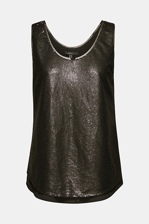 Sequin top with a chiffon layer