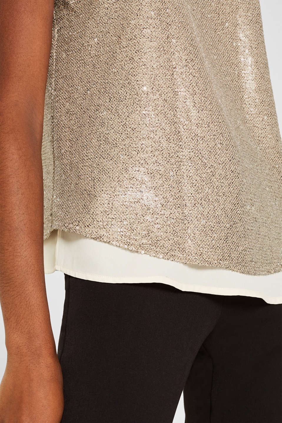 Blouses woven, CREAM BEIGE, detail image number 2