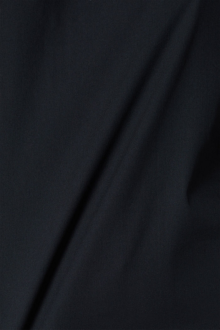 Stretch blouse with a stand-up collar, BLACK, detail image number 4