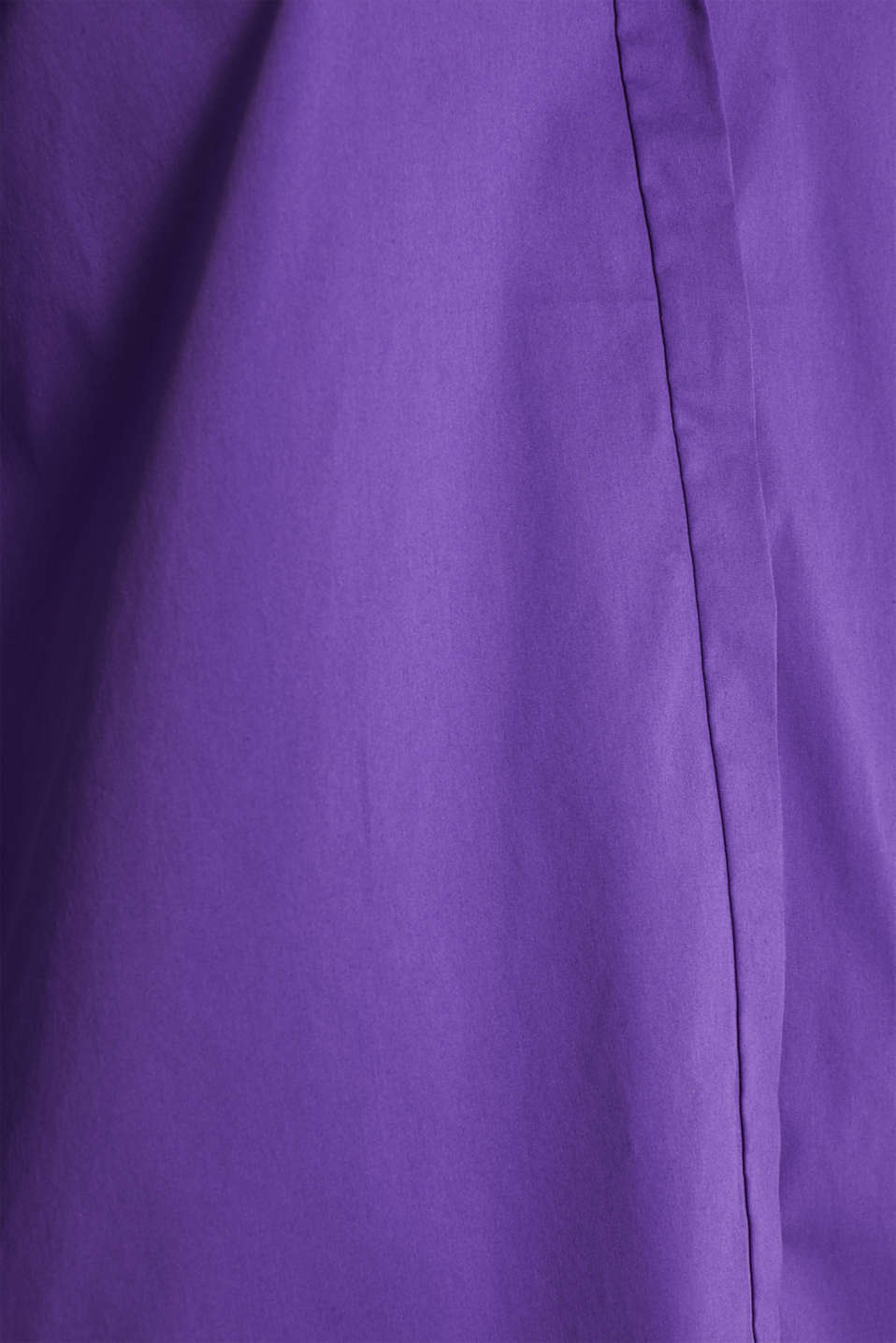 Stretch shirt blouse with a fine sheen, PURPLE, detail image number 4