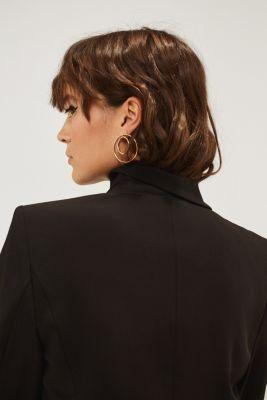 SATIN DETAIL mix + match stretch blazer