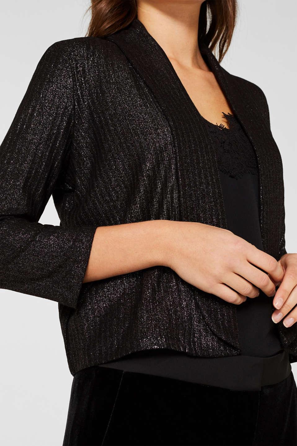 Jackets indoor knitted, BLACK, detail image number 2