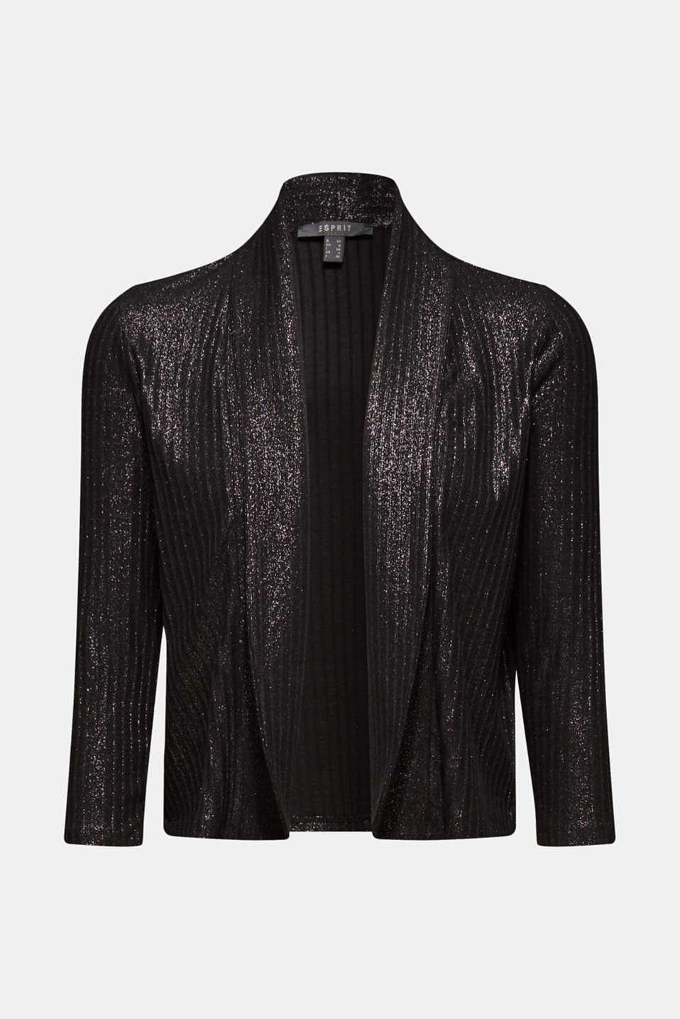 Jackets indoor knitted, BLACK, detail image number 6